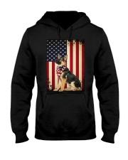 German Shepherd Flag Hooded Sweatshirt thumbnail