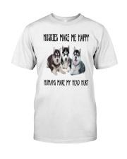 Husky Make Me Happy Classic T-Shirt thumbnail