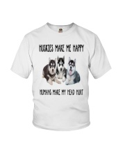 Husky Make Me Happy Youth T-Shirt thumbnail