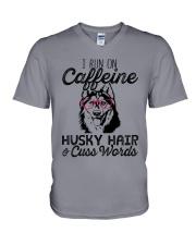 Caffeine Husky Hair V-Neck T-Shirt thumbnail