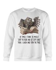 Owl At times i think to myself Crewneck Sweatshirt thumbnail
