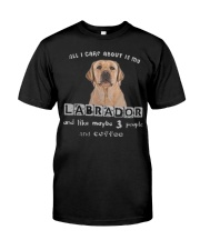 all I Care About is my Labrador  Classic T-Shirt front