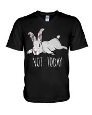 Rabbit Not Today V-Neck T-Shirt thumbnail