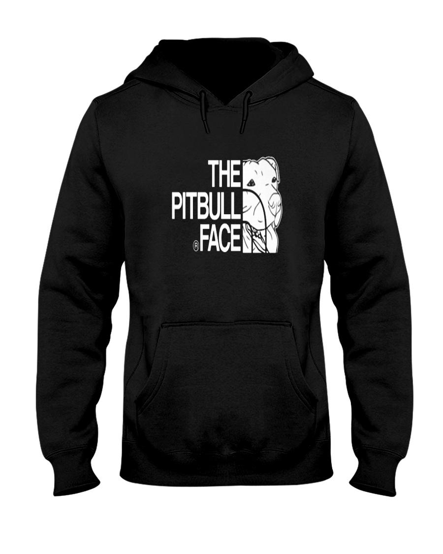 The Pitbull Face Hooded Sweatshirt