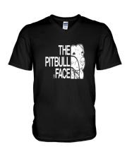The Pitbull Face V-Neck T-Shirt thumbnail