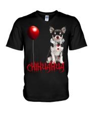 Chihuahua Halloween  V-Neck T-Shirt thumbnail