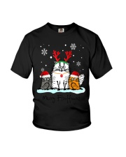 Cats Merry Fluffmas Youth T-Shirt thumbnail