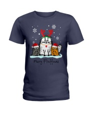 Cats Merry Fluffmas Ladies T-Shirt thumbnail