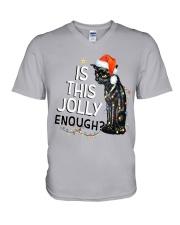 Enough Cat V-Neck T-Shirt thumbnail
