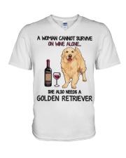 Woman Needs a Golden V-Neck T-Shirt thumbnail