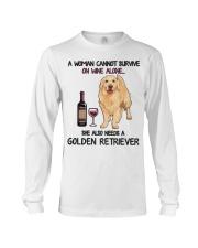 Woman Needs a Golden Long Sleeve Tee thumbnail