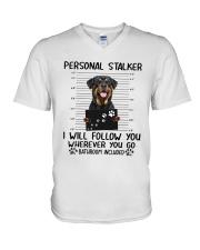 Rottweiler Stalker V-Neck T-Shirt thumbnail