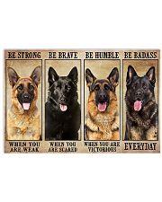 German Shepherd Be Badass 17x11 Poster front