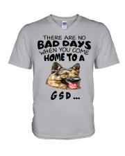 No Bad Days With Gsd  V-Neck T-Shirt thumbnail