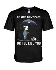 Be Kind To My Cats V-Neck T-Shirt thumbnail