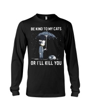 Be Kind To My Cats Long Sleeve Tee thumbnail
