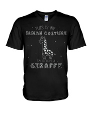 Giraffe Costume V-Neck T-Shirt thumbnail