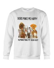 Dogs Make Me Happy Crewneck Sweatshirt thumbnail