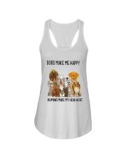 Dogs Make Me Happy Ladies Flowy Tank thumbnail