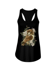 OWL AND FLOWERS  Ladies Flowy Tank thumbnail