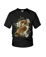 OWL AND FLOWERS  Youth T-Shirt thumbnail