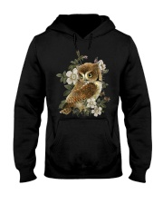 OWL AND FLOWERS  Hooded Sweatshirt thumbnail