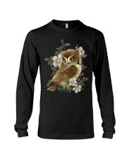 OWL AND FLOWERS  Long Sleeve Tee thumbnail