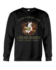 RABBIT - I READ BOOKS  Crewneck Sweatshirt thumbnail