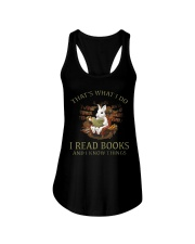 RABBIT - I READ BOOKS  Ladies Flowy Tank thumbnail