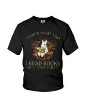 RABBIT - I READ BOOKS  Youth T-Shirt thumbnail