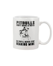 Pitbull Don't Have Voice Mug thumbnail