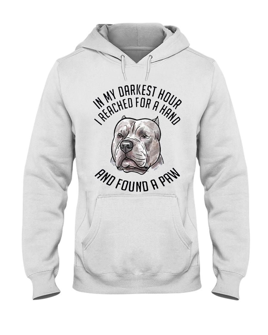 In My Darkest i Found My Pitbull Hooded Sweatshirt