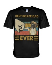 Boxer Dad Best Ever V-Neck T-Shirt thumbnail