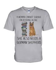 Woman Also Need German Shepherd V-Neck T-Shirt thumbnail