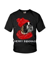 Boxer Christmas Scarf Youth T-Shirt tile