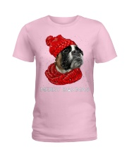Boxer Christmas Scarf Ladies T-Shirt tile