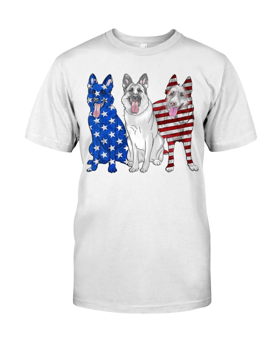 German Shepherd Flag Classic T-Shirt