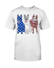 German Shepherd Flag Classic T-Shirt front