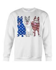 German Shepherd Flag Crewneck Sweatshirt thumbnail