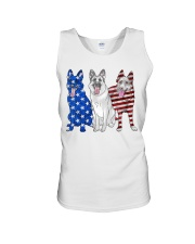 German Shepherd Flag Unisex Tank tile