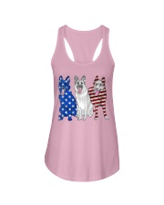 German Shepherd Flag Ladies Flowy Tank tile