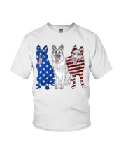 German Shepherd Flag Youth T-Shirt thumbnail
