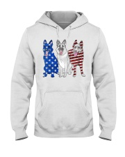German Shepherd Flag Hooded Sweatshirt thumbnail