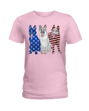 German Shepherd Flag Ladies T-Shirt thumbnail