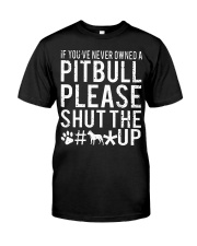 Pitbull Owned Classic T-Shirt front