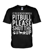 Pitbull Owned V-Neck T-Shirt thumbnail