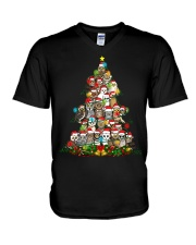 OWLS CHRISTMAS V-Neck T-Shirt thumbnail