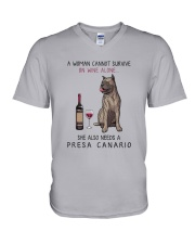 Woman Need Persa Canario V-Neck T-Shirt thumbnail