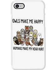 Owls Make Me Happy Phone Case thumbnail