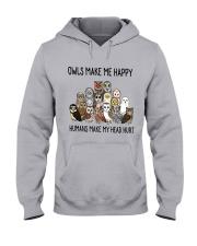 Owls Make Me Happy Hooded Sweatshirt thumbnail